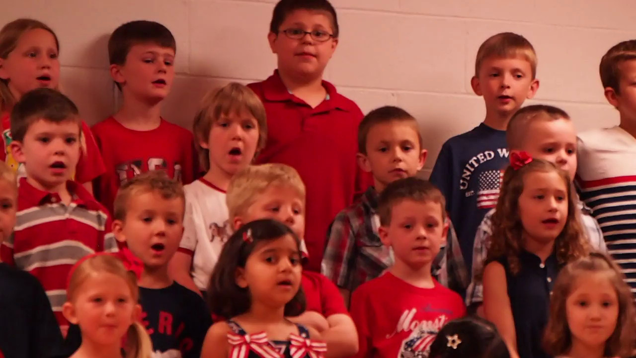 God Bless America Kindergarten Patriotic Program