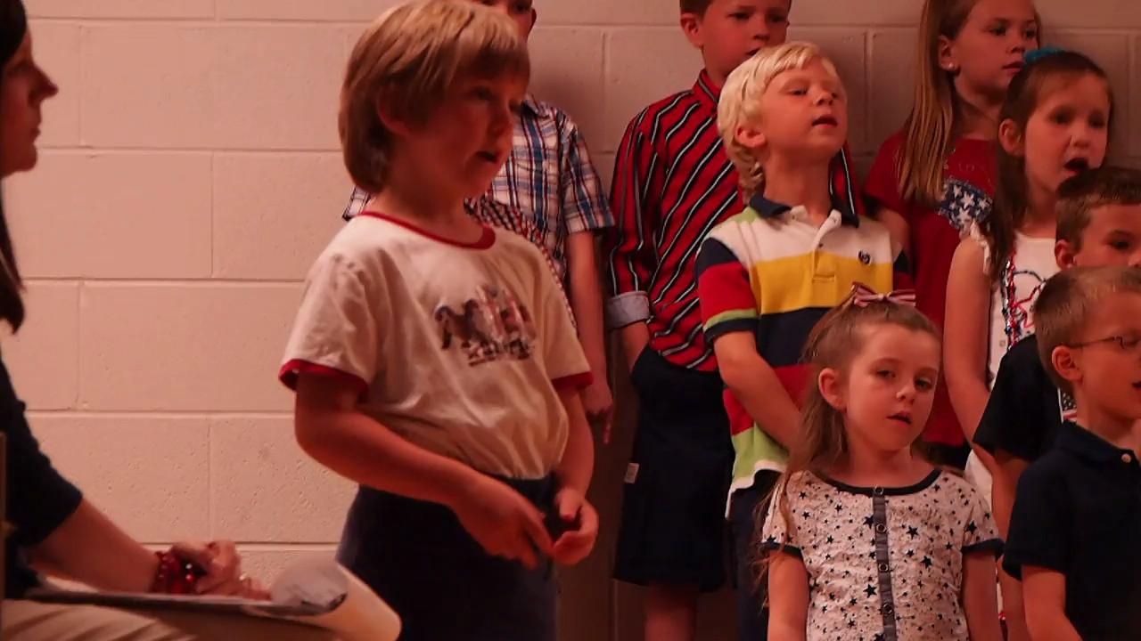 American the Beautiful, short clip Kindergarten Patriotic Program