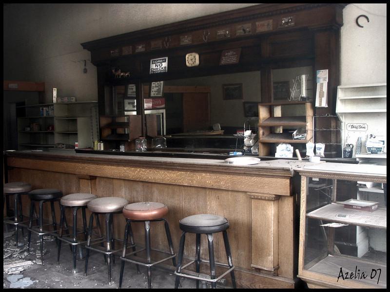 Old saloon at Scofield , Utah
