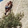 Andy Wright on lead.  Canyon Tajo, Baja California 1985