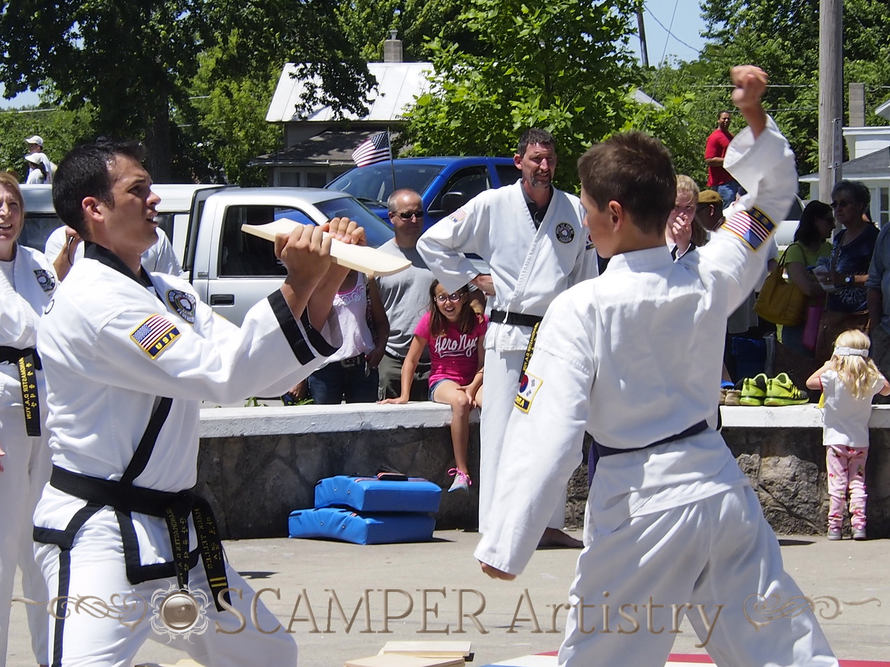 Cherry Fest parade and demonstration, June 14, 2014