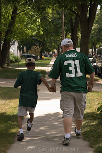 Paul & Alonzo heading over to the tailgate party