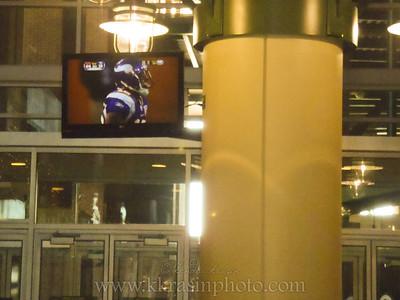 Watching the Viking game at Lambeau
