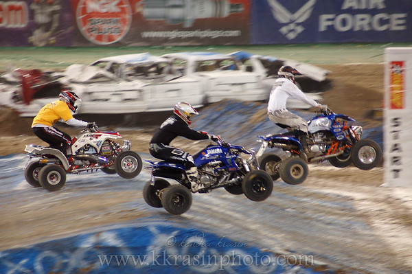 This time, they had 4-wheeler racing too