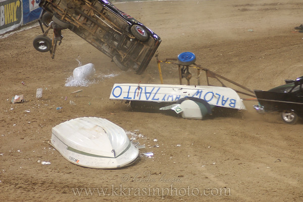 I never expected a car to flip during trailer racing