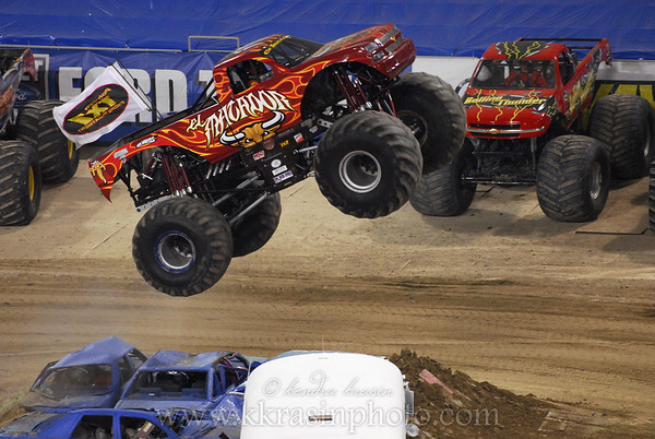 On to monster truck freestyle