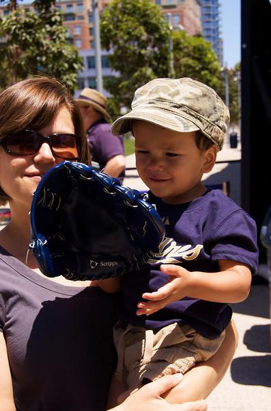 Jason's first baseball glove