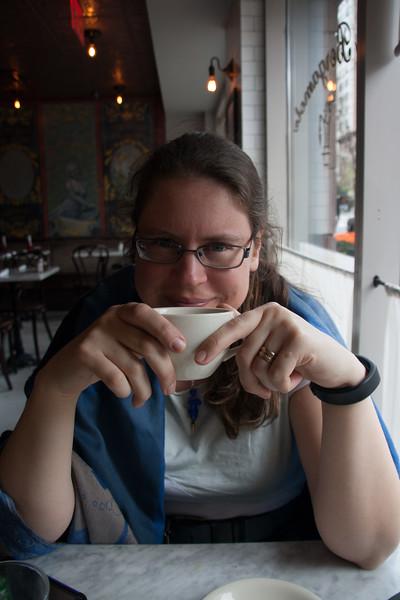 Susanne with tea