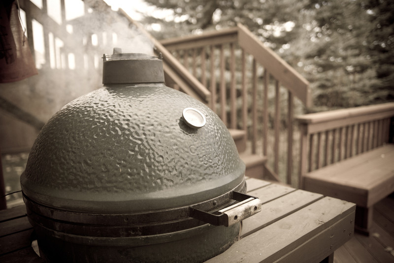 """This is where it gets easy.  With the Big Green Egg, it's """"set it and forget it""""."""