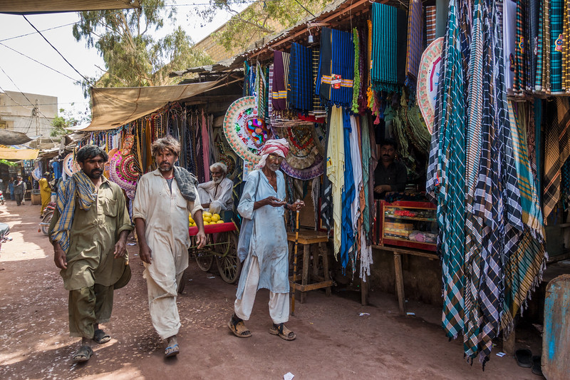 The main bazaar in downtown Thatta.