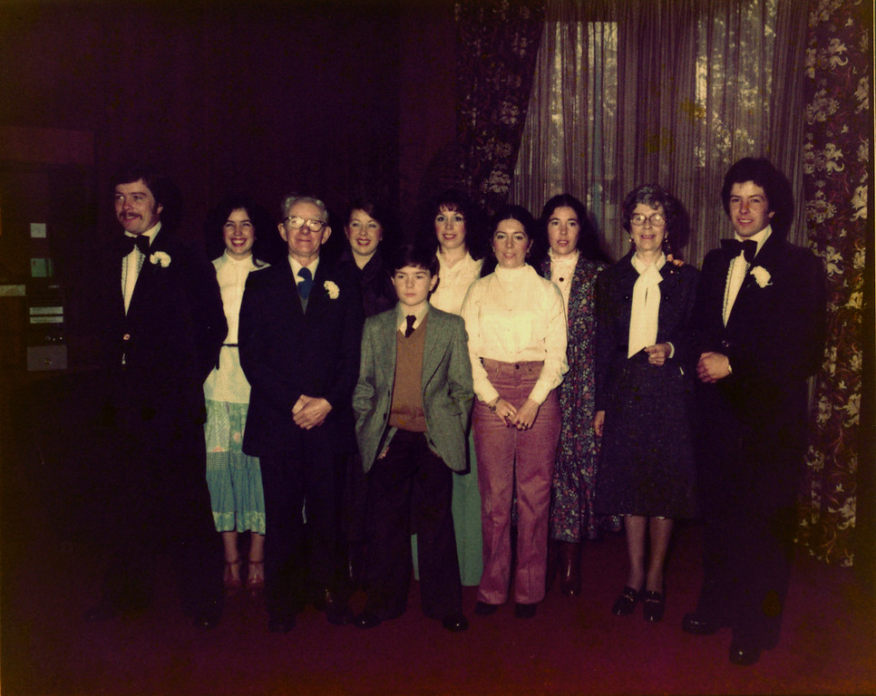Seamus and Bernies wedding 1978 One of the few photos with all the family together.
