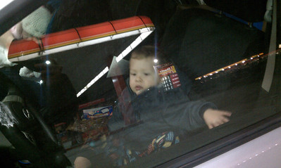 Dylan is driving a car.