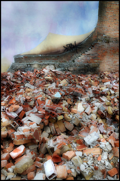 A pile of bricks :)