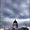 The capitol building in Salt Lake City. It was a marvelous cloudy day and I used that to my advantage. Its my way of showing how scary government can be *winks* :)
