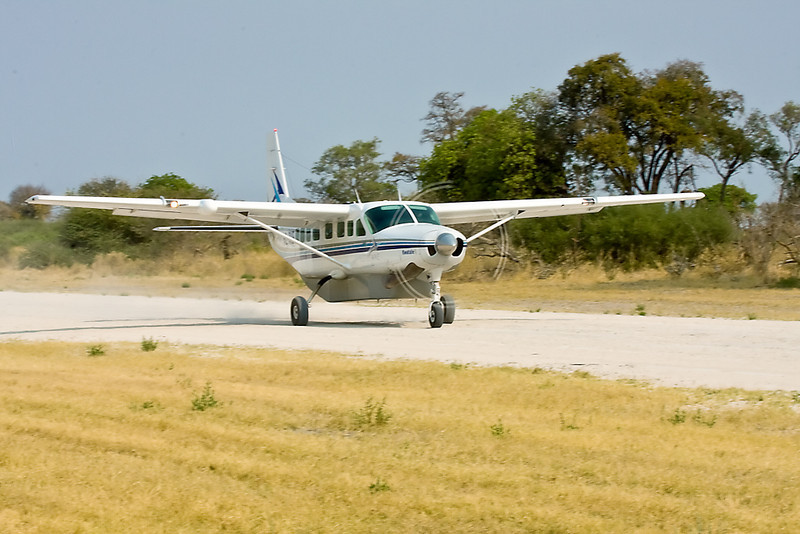 We got around the Okavango Delta in these Cessna Challengers. They saved us about 4 days of driving