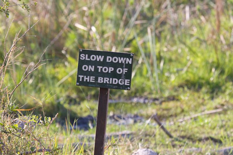 Sign at Third Bridge