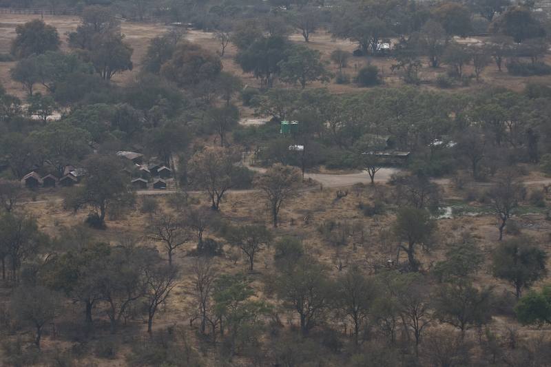 Vumbura Plains Camp from the Helicopter