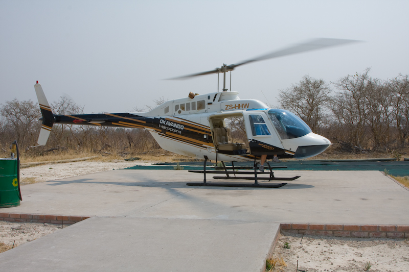 Our helicopter.