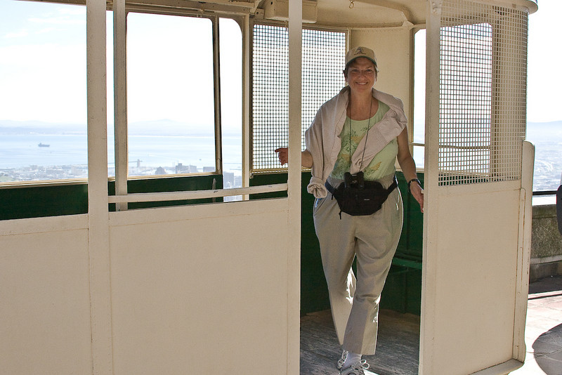 The old tram car at Table Mountain