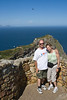 Cape Point is the rock formation behind us.