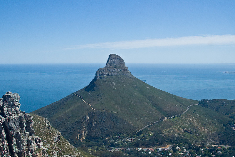 Lion's Head from Table Mountain tram