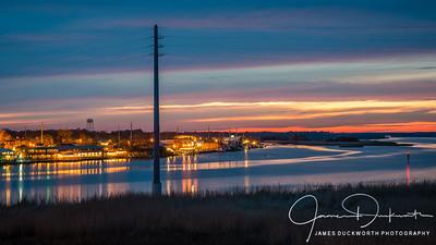 Blue Hour View of Apalachiacola, Florida
