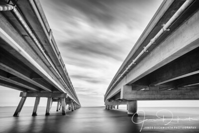 Abstract View of Bridge to St. George Island Florida