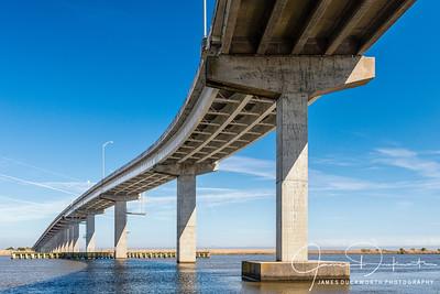 Abstract View of the Apalachiacola Bridge, Apalachiacola, Florida