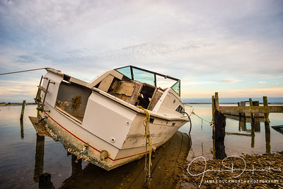 Sunken Pleasure Boat, East Point, Florida