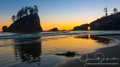 Sunset, Second Beach, Olympic National Park