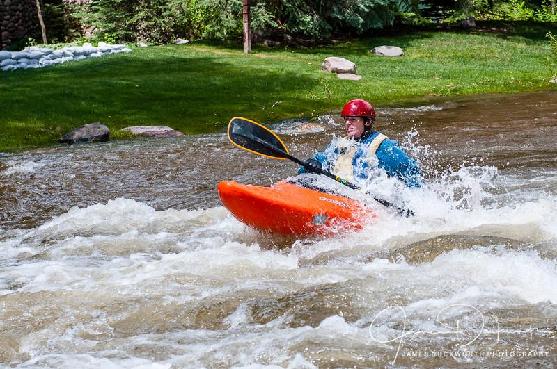 Gore Creek Paddler