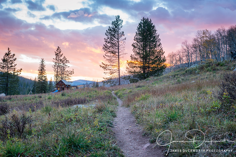 Sunset along the trail at Piney Lake Ranch