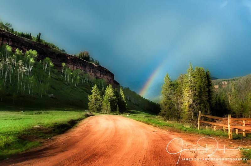 Rainbow on Sandstone Road Vail
