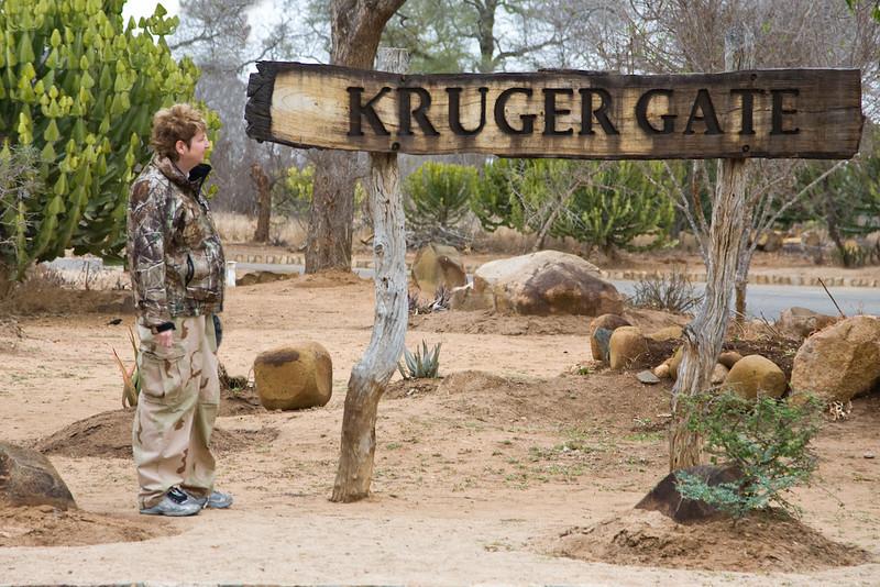 Bev at Kruger Gate