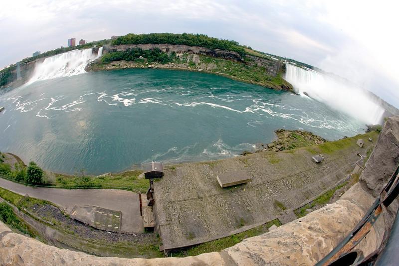 Niagara Falls Fisheye View.