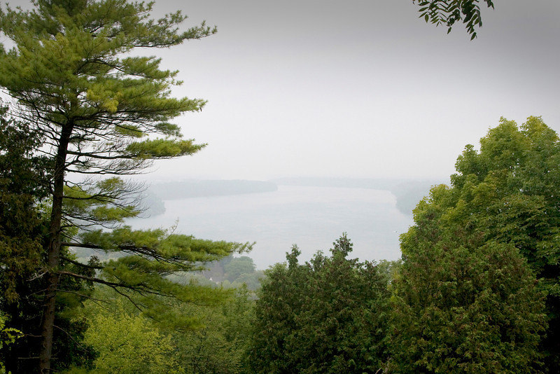 Misty Morning on the Niagara River from Queenston Heights.