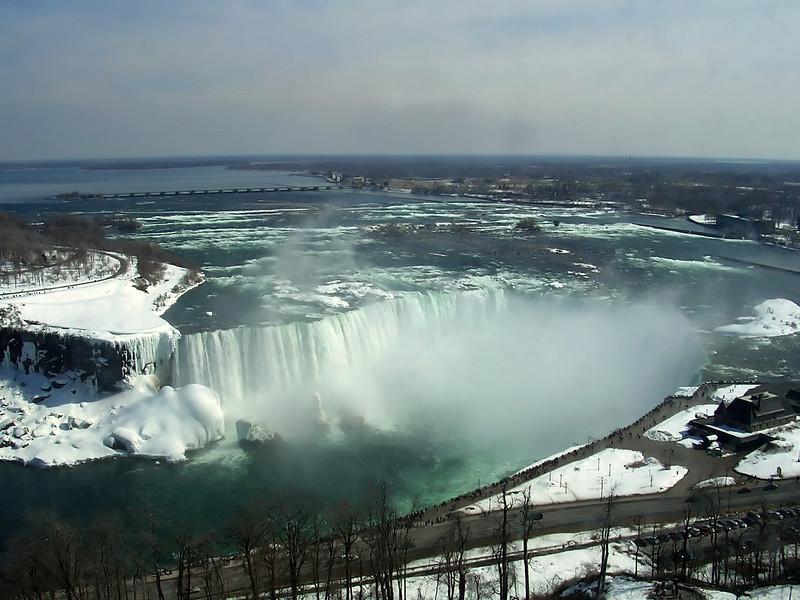 Niagara Falls in daylight.