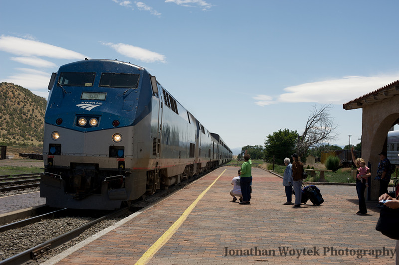 Southwest Chief arriving at our station in Lamy, NM.