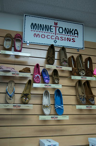 These were Minnetonka Moccasins.   They were nice but a bit pricey.    Ada was interested in them.