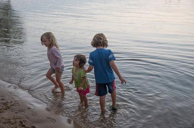 Kids playing at Silver Lake