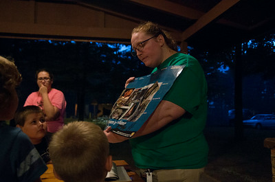 Vanessa W. showing off the types of bats in MI.  She also had a bat house that could fit about 100 bats, it was no larger than two adult shoe boxes.