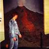 Auckland War Museum - Sean Turner admiring Volcano Model