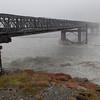 Franz Josef Glacier - Bridge with floodwaters