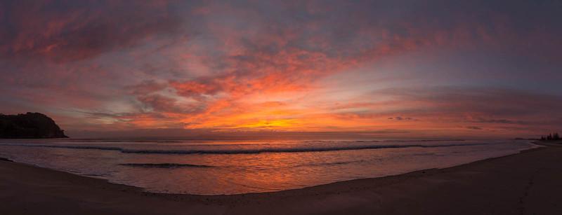 Waihi Bay beach sunrise
