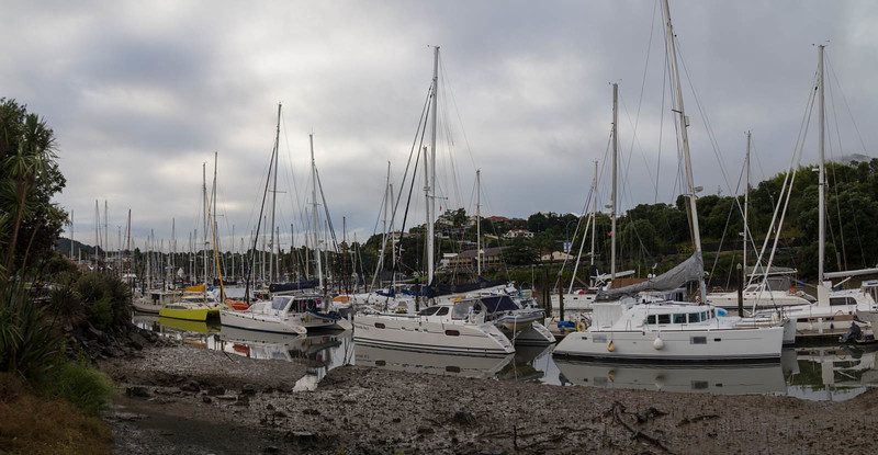 Whangarei Yachts at low tide