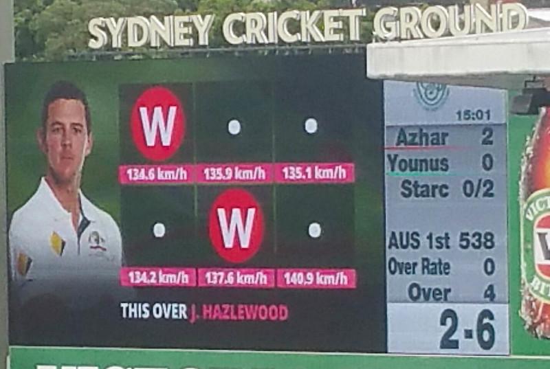 Hazlewood double wicket maiden