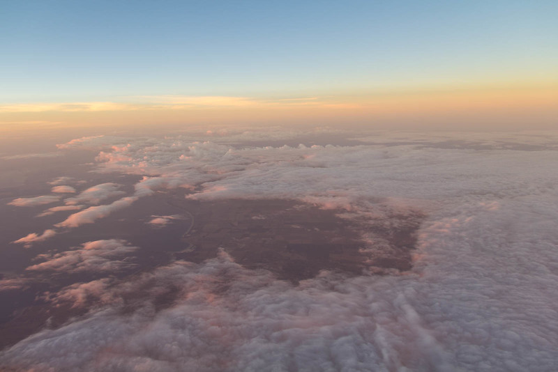 Sunset from above