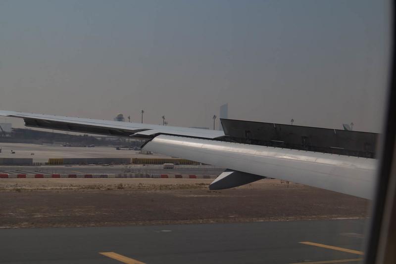 Landing at Dubai