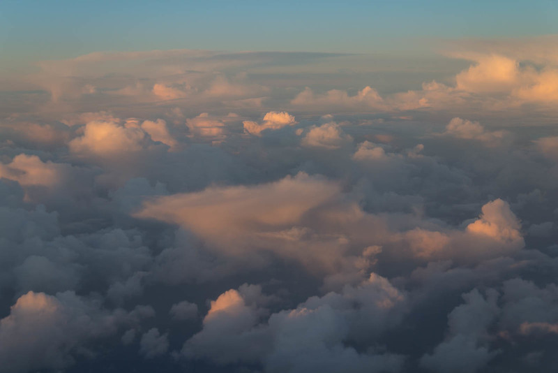 Cloud formations in the Dawn light