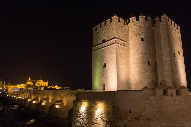 Roman Bridge at Night